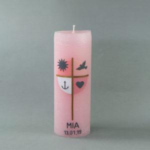 Taufkerze Mia