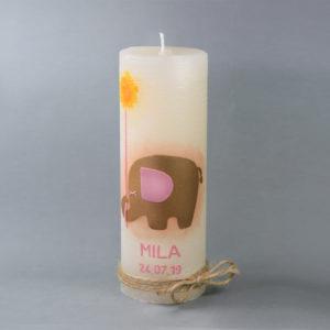 Taufkerze Mila