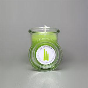 Glaskerze Hellgrün