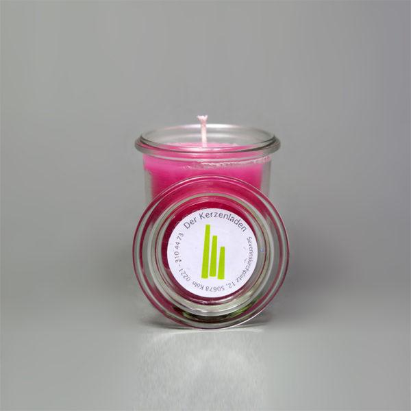 Glaskerze Pink