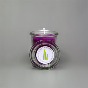 Glaskerze Violett